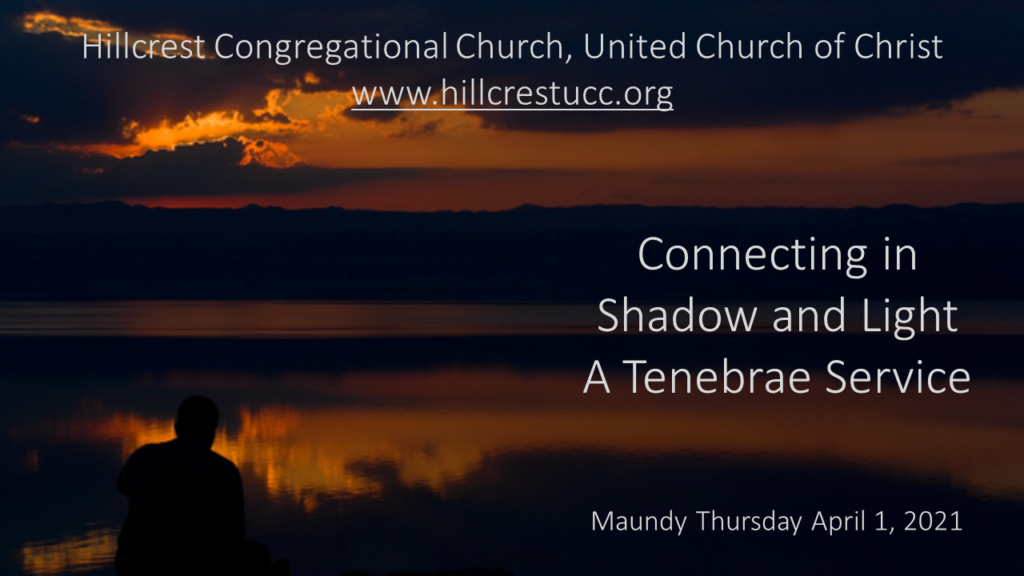 Maundy Thursday Tenebrae Worship